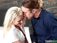 Kinky blonde teen aubrey gold is a horny schoolgirl