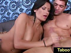 Luscious babe nadia capri strokes this hard cock