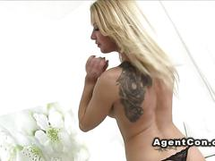 amateur, blonde, casting, hardcore, babe, fucking, riding, tattoo, agent