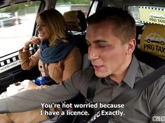 Beautiful russian in stockings fucked by taxi driver hd
