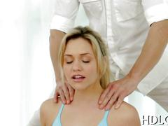 Yoga blonde just wanted to stretch her pussy