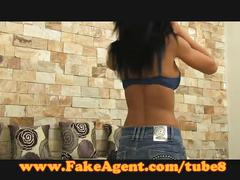 Fakeagent super hot amateur takes it up the ass