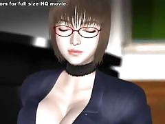 Busty anime girl with hot body fucked