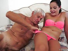 Dolly diore gets creampied by an old grey haired man