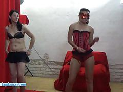 Sexy lapdancer swallows this hard cock