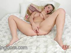 Gorgeous babe harley jade finger fucks her moist pussy