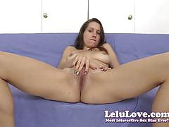 Gorgeous lelu love rubs her moist slot
