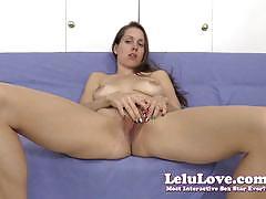 Gorgeous lelu love rubs her moist slot