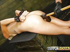 bdsm, strap on, lesbian domination, dildo, feet worship, handcuffed, blonde babe, strapon squad, fetish network, halle von, marina angel
