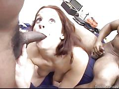 Sexy gabriella playing with three black dicks @ young and dumb #08