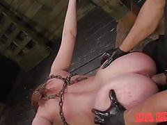 Enchained slave gets fucked hard