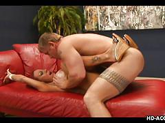 milf, mature, redhead, blowjob, big boobs, pussy licking, undressing, on couch, tit sucking, matures hd, whitney wonders