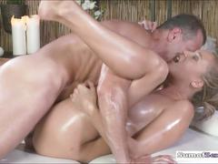 Sexy blonde babe lola massage and pounded by her masseur