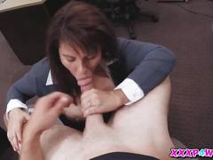Sweetie hottie milf fucks a big dick for cash