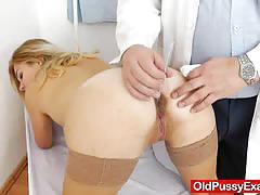 Blonde milfs pussy examination