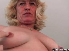 Grandma with hard nipples needs to get off (compilation)