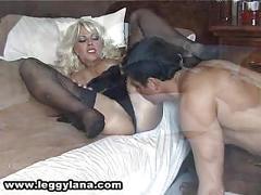 Lana handjob cum in stocking