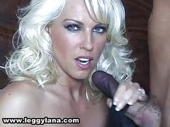 Lana handjob cum in stocking