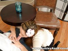 Ashley pantyhose footjob