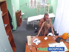 Fakehospital doctors halloween wardrobe malfunction gets blonde horny