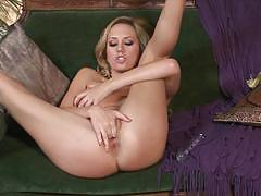 Brett rossi masturbation in red lace