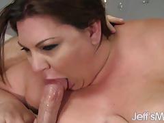 Plumper bella bends loves hard cock
