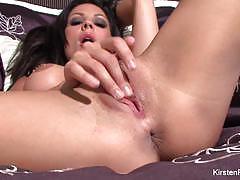 Gorgeous kirsten price finger fucks her moist pussy