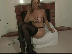 jenna covelli, lingerie, toy, dildo, solo, mature