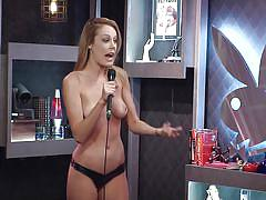 blonde, playboy, reality, talking, topless, natural tits, morning show, morning show, playboy tv, dorothy grant, andrea lowell, mariela henderson