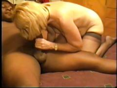 Cuckold's slut wife and the fat black dick