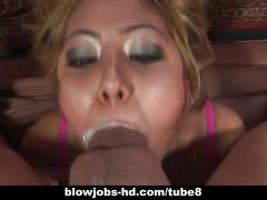 Hardcore slut kat mouthful of cock