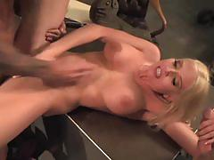 Christie stevens gets banged from both ends