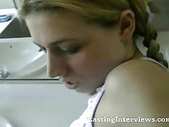 Schoolgirl in pigtails first time fuck in pov
