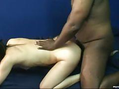 Amateur brunette gets her pussy filled with cock