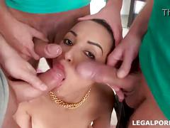 3 on 1 first daped so long and plastered after creampiee swallow. ass is dam done! gio28