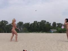 amateur, public, nudistvideo, teenager, young, outside, blonde, teen, brunette, small-tits, natural-tits, shaved-pussy, skinny, beach, nudist
