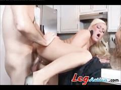 Two sexy blondes hot threesome fucked