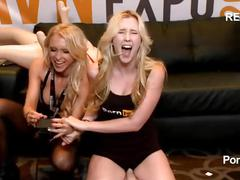 Samantha rone squeals riding the sybian in the pornhub booth at 2015 avn