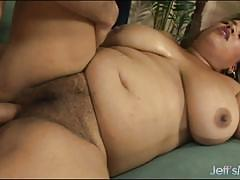 Chubby amateur swallows this hard cock