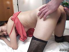 Mature asian rear doggystyle fuck