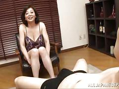 Japanese mature dick sucking adventure