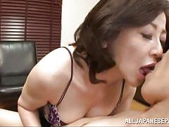 Japanese mature dick sucking adventure