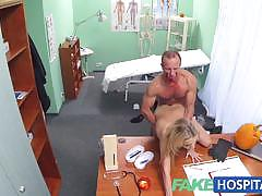 Sizzling patient rides this hard cock