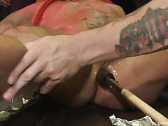 Slave is bound and humiliated by gay master