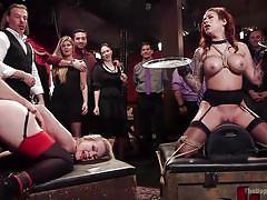 bdsm, orgy, stockings, vibrator, blonde milf, busty babe, sex slaves, rope bondage, slave training, the upper floor, kink, bill bailey, karmen karma, simone sonay