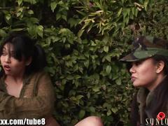 lesbian, sunlustxxx.com, dildo riding, army girls, orgy, strap on, natural tits, pussy licking, rimming, bubble butt, clit rubbing