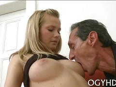 Teen gives a blow to an old guy clip