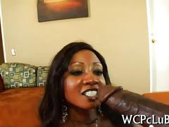 Big tits black goddess jumps an ebony stallion giant dick