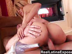 Reallatinaexposed - big titted latina bends over for a big dick