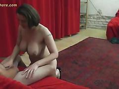 Sensual lapdancer loves teasing this hard cock